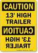 OSHA Caution Rearview Mirror Sign