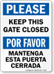 Bilingual Gate Sign