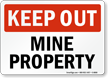 Mine Safety Sign