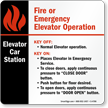 6in. X 6in. Elevator Car Station Sign