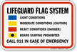 Lifeguard Flag System Sign