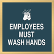 Marquis Wash Hands Sign