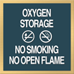 Marquis Oxygen Storage Sign, 6in. x 6in.