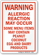 Peanut Allergy Warning Sign