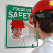 Mirror Safety Message Sign