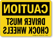 OSHA Caution Rear View Mirror Sign