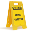 FloorBoss XL™ OSHA Caution Floor Standing Sign