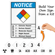 NFPA Diamond Chemical Hazard Ratings Sign Kit