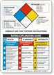 NFPA Chemical Hazard Ratings Sign - SDS