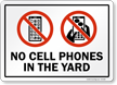 Cell Phone Yard Sign
