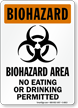 OSHA Biohazard Area Warning Sign