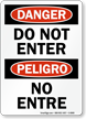 OSHA Bilingual Danger / Peligro Sign