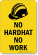 Head Protection Required/Wear Hard Hats Sign