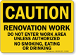 Under Construction OSHA Caution Sign