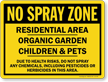 No Spray Sign