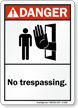 ANSI Danger No Trespassing Sign