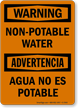 Bilingual OSHA Warning / Advertencia Sign