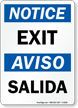 Bilingual OSHA Notice / Aviso Sign