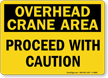 Crane Hoist Warning Sign