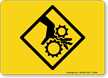 Pinch Nip Point Warning Sign