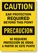 Bilingual OSHA Caution / Precaucion Sign