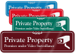 Private Property ShowCase™ Wall Sign