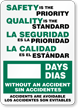 Mark-a-Day™ Bilingual Safety Scoreboards
