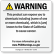 Custom California Prop 65 Sign