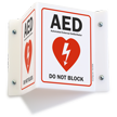 AED Automated External Defibrillator Not Block Sign