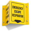 Fire And Emergency Projecting Sign, 6in. X 5in.