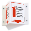 Fire Extinguisher Instruction Projecting Sign