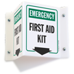 Emergency First Aid Kit Directional Projecting Sign