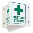 Projecting First Aid Sign, 6in. x 5in.