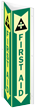 Projecting First Aid Sign, 18in. x 4in.
