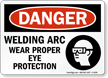 OSHA Danger Eye Safety Sign