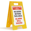 Security Alarm Sound FloorBoss XL™ Free-Standing Sign
