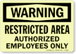 GlowSmart™ OSHA Warning Sign