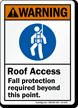 Warning Fall Hazard Fall Protection Must Be Worn Sign Sku