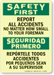 Bilingual OSHA Safety First / Seguridad Primero Glow Sign