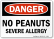 OSHA Danger Peanut Allergy Sign