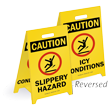 Reversible Fold-Ups® Floor Sign