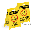 Reversible Fold-Ups® Floor Sign - Lightweight Plastic 20
