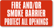 Fire & Smoke Barrier Label