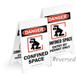 Reversible Fold-Ups® Floor Sign - Lightweight Plastic 20in. H x 12in. W