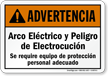 Spanish ANSI Warning Sign