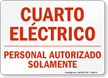 Spanish Electrical Safety Sign