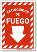 Spanish Fire Extinguisher Sign