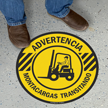 SlipSafe™ Spanish Forklift Floor Sign