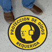 17in. Diameter SlipSafe™ Spanish Hearing Protection Required Floor Sign