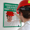 Spanish Meet The Key Person In Our Safety Program Mirror Sign